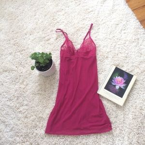 La Perla raspberry color chemise lace cup 2